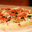 Uncooked pizza — Stockfoto
