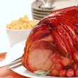 Easter spiral cut ham - Stock Photo