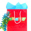 Shopping bag for a birthday event - Stock Photo