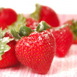 Stock Photo: Fresh strawberry with powdered sugar