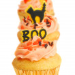 Stock Photo: Three Halloween Cupcakes