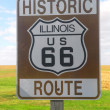 Stock Photo: Illinois Route 66 sign