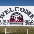 The Midway point along Route 66 - Stock Photo