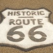 Route 66 sign on pavement — Foto Stock