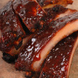Stock Photo: Delicious BBQ ribs