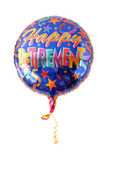 "A festive helium balloon with ""Happy Retirement"" written on it — Stock Photo"