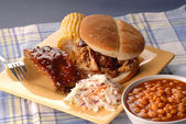 Pulled pork sandwich — Stock Photo