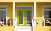 Very colorful entrance way to a Pensacola Florida home — Stock Photo