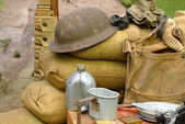 Items displayed from a World War 2 soldier — Stock Photo