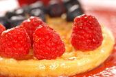 Waffle with fruit — Foto de Stock
