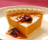 Pumpkin pie with pecans — Stock Photo