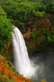 Wailua falls in Kauai Hawaii — Stock Photo