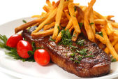 Steak and Fries — Stock Photo