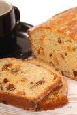 Sliced cherry raisin bread — Stock Photo