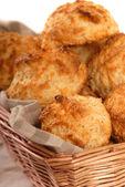 Kaşar peynirli bisküvi — Stok fotoğraf