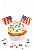 4th of July cupcake — 图库照片