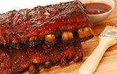 Slabs of BBQ Spare ribs — 图库照片