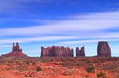 A view from Artist Point in Monument Valley — Stock Photo