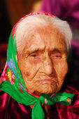 99 year old Navajo woman — Stock Photo