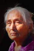 Elderly Navajo woman — Stock Photo