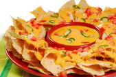 Plate of nachos — Stock Photo