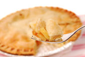 Rebanada de pastel de manzana — Foto de Stock