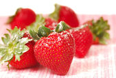 Fresh strawberry with powdered sugar — Stock Photo