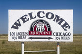 The Midway point along Route 66 — Stock Photo