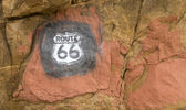 Route 66 sign painted on rocks in New Mexico — Stock Photo
