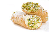 Two Cannoli stacked on each other — Stock Photo