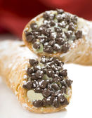 Cannoli with chocolate chips — Stock Photo