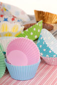 Variety of cupcake liners — Stock Photo