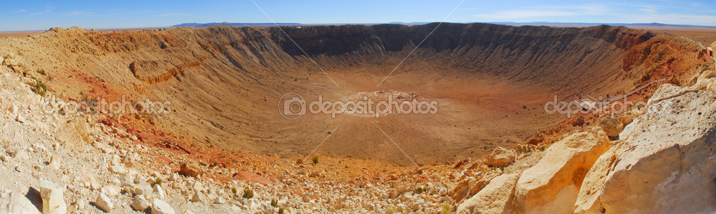 Panoramic view of Meteor Crater located in Winslow Arizona — Stock Photo #5979491
