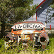 voiture abandonnée le long nous route 66 — Photo