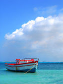 Fisherman's boat in Aruba — Stock Photo