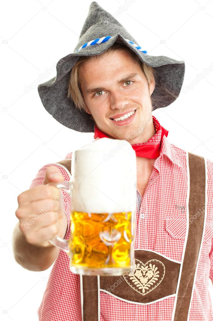 Smiling man at octoberfest   Stock Photo #5966644
