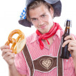 Happy bavarian man — Stock Photo