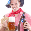 Image of a bavarian man — Stock Photo