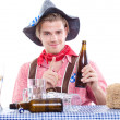 Drunken bavarian man — Stock Photo