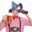 Lonely attractive bavarian man — Stock Photo
