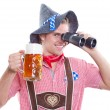 Royalty-Free Stock Photo: Lonely attractive bavarian man