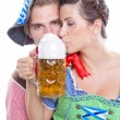 Stock Photo: Drinking beer