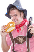 Man dresses with bavarian costum — Stock Photo