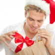 Looking in a bag — Stock Photo
