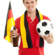Stock Photo: Happy german fan