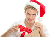 Christmas man — Stock Photo