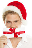 Happy christmas man — Stock Photo