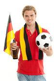 Happy german fan — Stock Photo