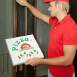 Knocking on door - Stock Photo