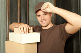 Delivery man — Foto Stock